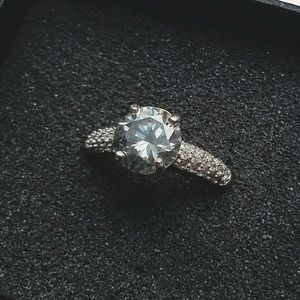 Jewelry - 3ct Moissanite 925 Sterling Silver Ring Size 7.5